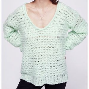 NWT free people | crashing waves mint sweater